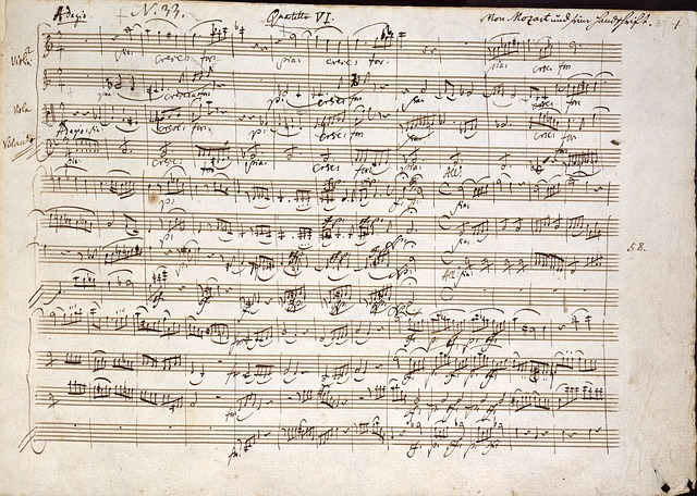 Sheet music from Mozart